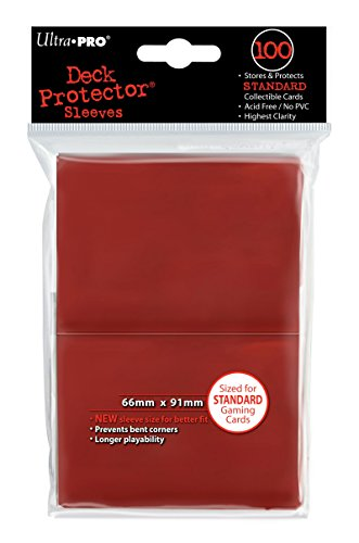 Ultra Pro Deck Protector, Standard, Red, 100 - 100 Card Standard
