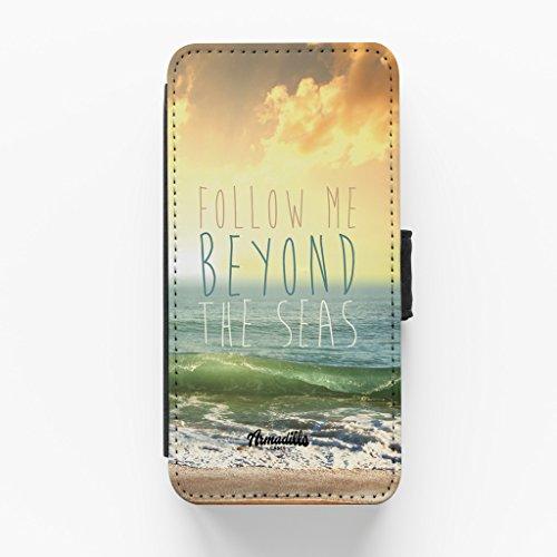 Follow Me Beyond The Seas Hochwertige PU-Lederimitat Hülle, Schutzhülle Hardcover Flip Case für iPhone 6 / 6s vom BYMBOW + wird mit KOSTENLOSER klarer Displayschutzfolie geliefert