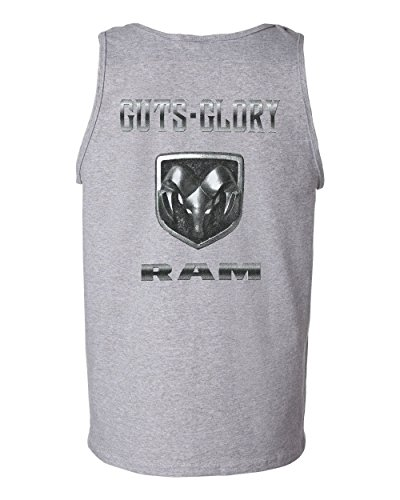 Guts And Glory Dodge RAM Tank Top RAM Pick Up Truck Top Gray (Pickup Truck Tank)