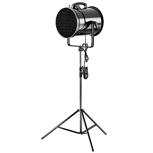 Neewer Professional 300W Metal Adjustable Fan Wind Machine with Honeycomb and U-shaped Frame for Studio Photography Shooting (JB-30H) by Neewer