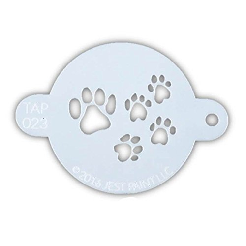 TAP 023 Face Painting Stencil - Paw Prints]()