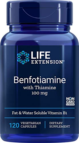Life Extension Benfotiamine with Thiamine 120 Vegetarian Capsules