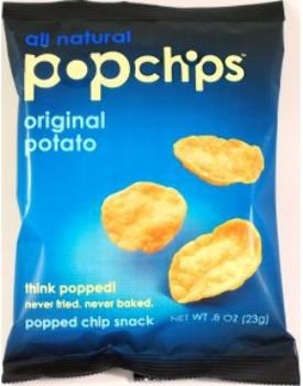Popchips Sea Salt Potato [72 Pieces] - Product Description - 0.8 Oz Bag Popped Chip Snack. Never Fried. Never Baked. All Natural. No Preservatives, No Artificial Flavors Or Colors, No Cholesterol. 0 Grams Saturated Fat. 0 Grams Trans Fat. Vegan. ...
