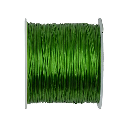 Generic 50 yards Stretch Polyester Crystal String Jewelry Making DIY - Olive Green