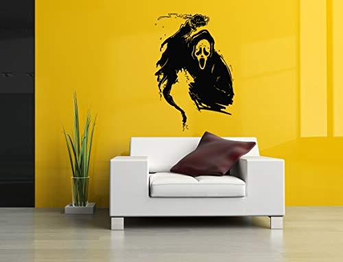 Vinyl Sticker Scream Scary Movie Mask Horror Face Killer Halloween Poster Mural Decal Wall Art Decor SA2616 -