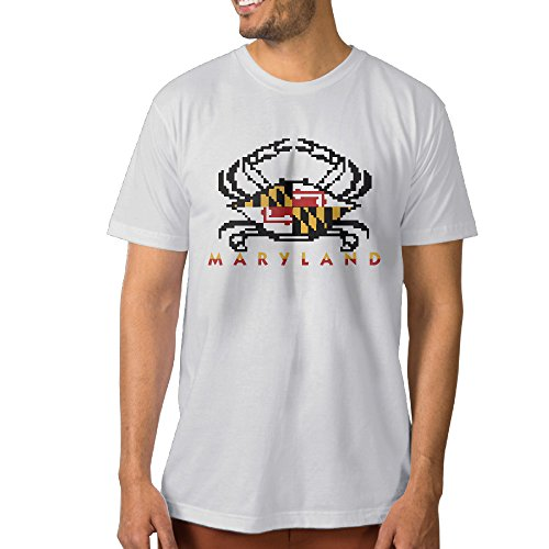 Men's Maryland FLAG Crab Fashion Tee Shirt