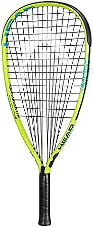HEAD MX Hurricane Pack - Beginners Pre-Strung Racquetball Racket Set w/ Goggles & Two B