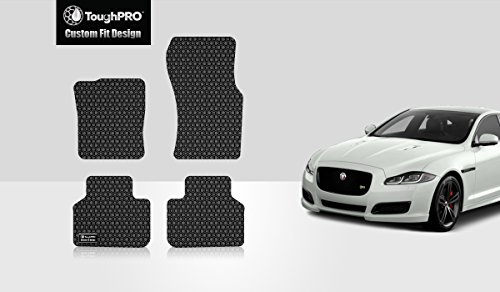 ToughPRO Jaguar XF Floor Mats Set - All Weather - Heavy Duty - Black Rubber -2009-2018 by ToughPRO