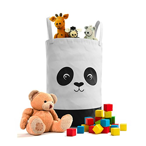 Fawn Hill Co Panda Laundry Hamper for Nursery or Kids Room - Children and Pet Storage Container for Toys, baby products and Clothing Hill Bedroom