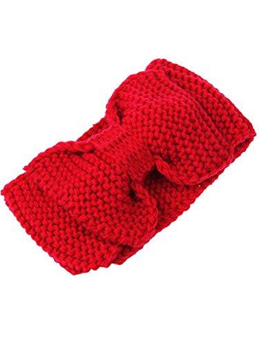 D'oreille Cache Crochet Jelinda Nœud Turban Fille Cheveux Tricot Bandeau Chaud Femmes En oreilles Rouge qYBgxY0P