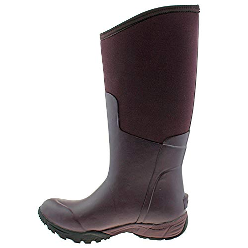 550 Aubergine Wellies Tall Boot Solid Bogs 6 39 eu Ladies uk Warm Essential Insulated 78583 IwqWpv