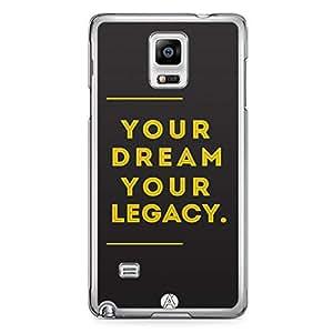 Designer iPhone Samsung Note 4 Tranparent Edge Case - Abstract
