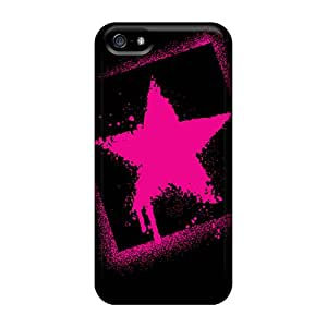 New Fashionable Doris Shop HHWcg4652ptuPT Cover Case Specially Made For Iphone 5/5s(pink Star)