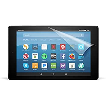 NuPro Clear Screen Protector for Amazon Fire HD 8 Tablet (7th Generation  - 2017 release) (2-Pack)