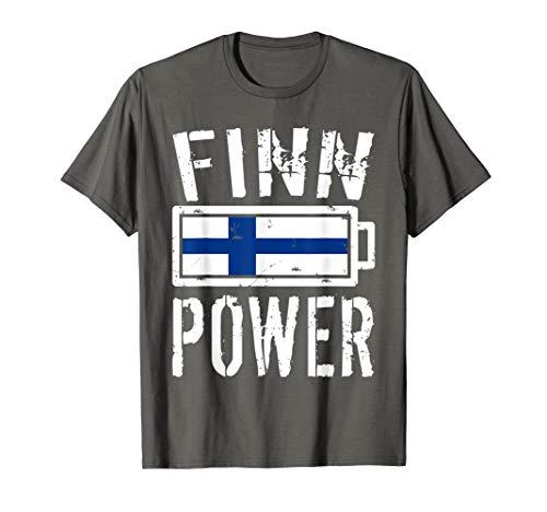 Finland Flag T-Shirt | Finn Power Battery Proud Tee