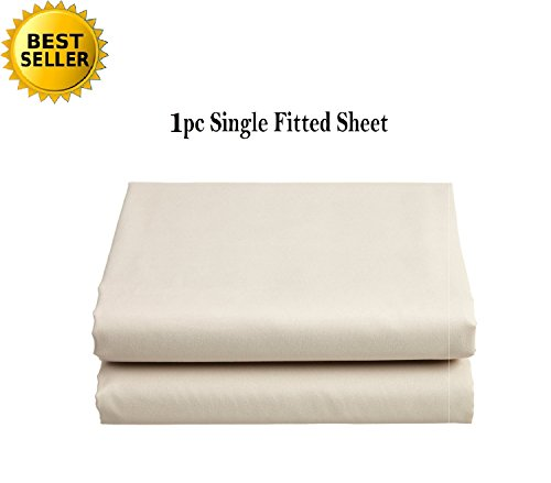 Elegant Comfort® Luxury Ultra Soft Single Fitted Sheet High Quality Special Treatment Construction Deep Pocket up to 16