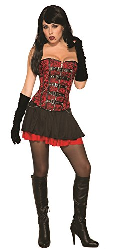 Forum 79310 Vampire Corset Party Supplies, Standard, Red/Black -