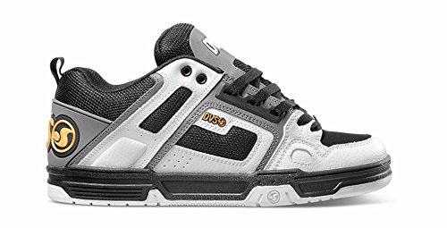 MOD DVS Hop White Hip Charcoal Comanche Leather Scarpe Skate zPpqx1w5xn