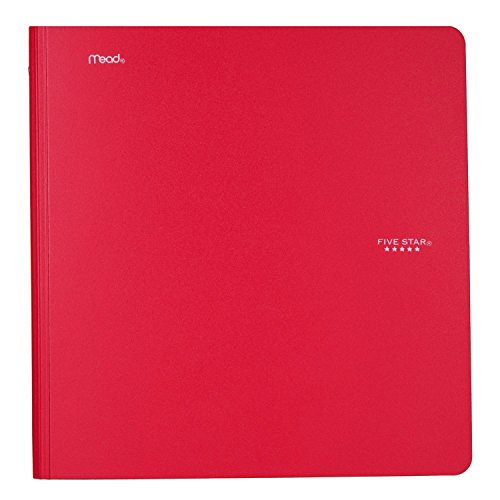 Five Star 1 Inch 3 Ring Binder, Plastic, Red (38031)