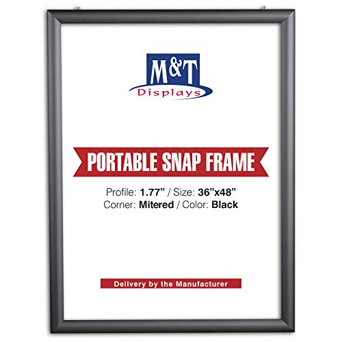 M&T Displays Portable Snap Frame, Poster Size, 1.77
