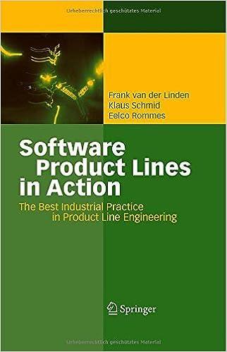 Book Software Product Lines in Action: The Best Industrial Practice in Product Line Engineering by Frank J. van der Linden (2007-07-20)