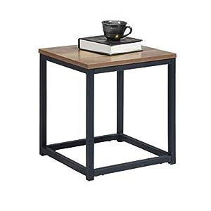 MEUBLE COSY Tables basses de salon table basse design moderne, dark wood /35 x 35 x 40 cm