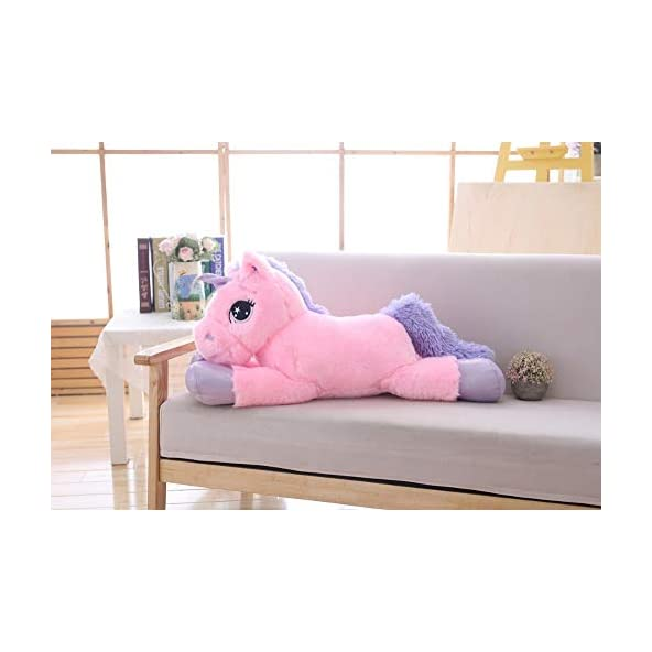 Chocozone Cute 70cm Unicorn Cushion Soft Toy for Girls & Boys Birthday Gifts for Girls ( Multicolor) (Pink) (Pink)