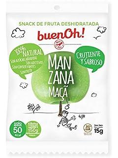 Manzana deshidratada crujiente - Pack 18 x 15g - Sin azúcar añadido, sin gluten,