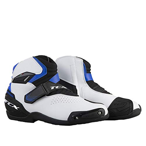 Roadster Air - TCX Roadster 2 Air Men's Street Motorcycle Shoes - White/Black/Blue / 42