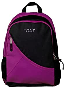 Five Star School Backpack, Angle Zip, Holds 14 Inch Laptop, Purple (72384)