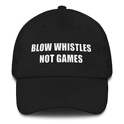 Blow Whistles Not Games Hat (Dad Cap) New Orleans Saints No Call, Cameron Jordan Pro Bowl Protest Refs Black