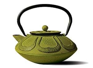 Old Dutch Cast Iron Meiji Teapot, 28-Ounce, Moss Green