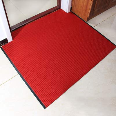 Red 90x100cm(35x39inch) Carpet,Doormat Entrance Carpet No-Slipping mat Welcome mat Easy to Clean-Red A 90x130cm(35x51inch)