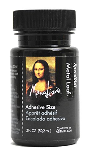 Gold Leaf Variegated (Speedball 10210 10210 Mona Lisa 2-Ounce Metal Leaf Adhesive Size)