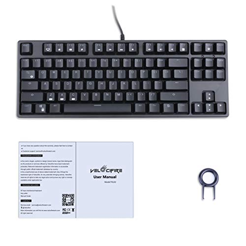 Velocifire VM01 Mechanical Keyboard w//Brown Switches LED Illuminated Backlit
