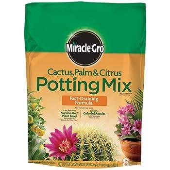 Miracle Gro 72078500 8 Qt Cactus, Palm & Citrus Potting Mix 0.06-0.02-0.04
