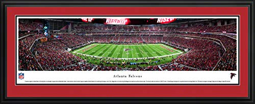Atlanta Falcons Picture Frame - Atlanta Falcons, 1st Game at MB Stadium - 44x18-inch Double Mat, Deluxe Framed Picture by Blakeway Panoramas