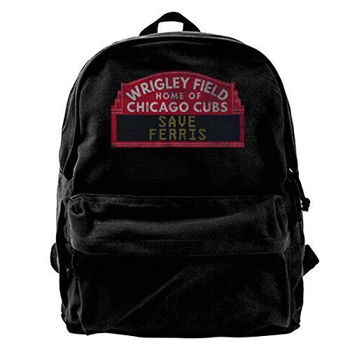 WUHONZS Canvas Backpack Ferris Buellers Day Off Save Ferris Field Sign Rucksack Gym Hiking Laptop Shoulder Bag Daypack for Men Women