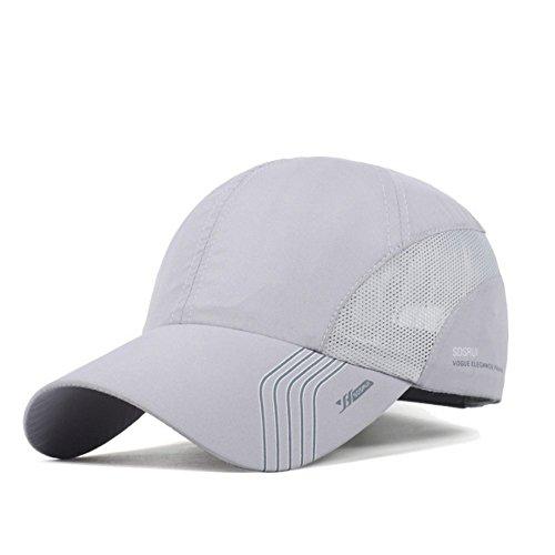 (Clape Sun Visor Hats Sports Hat Baseball HatsUPF50+ Outdoor Lightweight Waterproof Breathable Ultra Thin Cooling Cap Light Gray)
