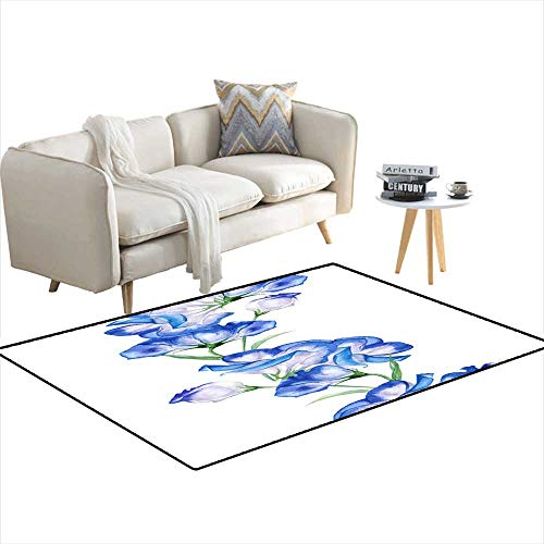 - Extra Large Area Rug Ornament Holiday Cards Branch Flower eustoma 36