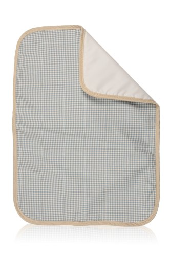 CYNGY Diaper Changing Pad, Cotton (Blue Toile Check -
