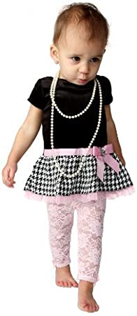 Baby Girls Brown /& Pink Leggings with Chiffon Ankles