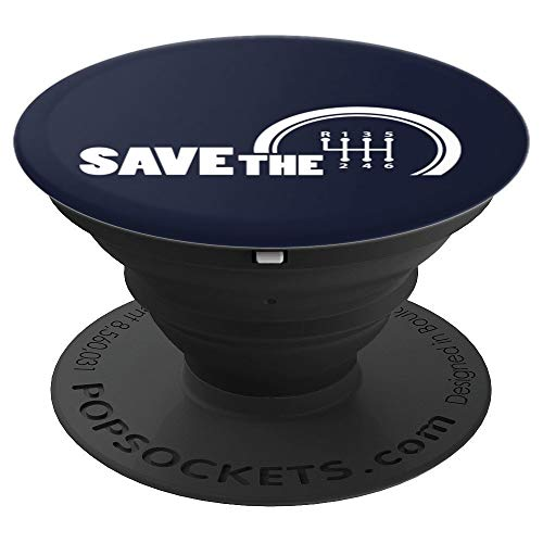 - Save The Stick Art | Manual Transmission Three Pedals Gift - PopSockets Grip and Stand for Phones and Tablets