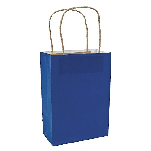 Fun Express Blue Medium Craft Paper Bags (24 Pack)