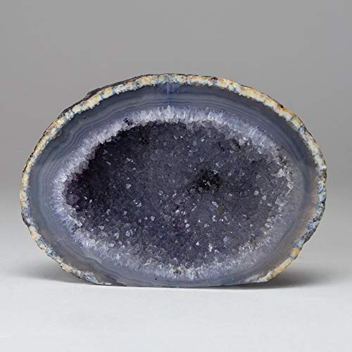 (Astro Gallery of Gems Banded Agate Druzy Geode from Brazil (1 lb))