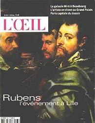 Revue l'oeil n° 556 / rubens l'evenement à lille par  L'Oeil