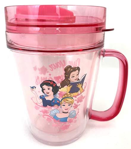Disney Princess Travel Tumbler Mug Snack Cup With Handle (pink)
