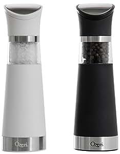 Ozeri Graviti Pro Electric Salt and Pepper Grinder Set, BPA-Free