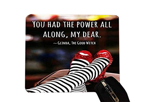 Inspirational Quote Red Slippers Design Print Image Desktop Office Silicone Mouse Pad by Trendy Accessories ()
