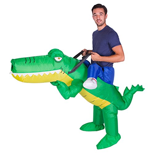 Bodysocks Adult Inflatable Crocodile Fancy Dress Costume]()